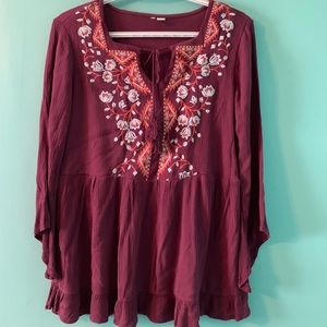 Tops - *4/25 Women's Embroidered Boho Top
